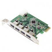 PCIe контроллер 4 внешних порта USB3.0, 5bites (CE170H-U3)