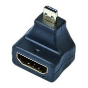 Адаптер microHDMI/M - HDMI/F, угловой, Gembird (A-HDMI-FDML)