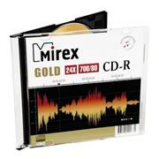 Диск CD-R MIREX 700Mb Gold 24x, Slim Case