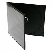 BOX 1 DVD Slim half 7mm, черный (коробочка на 1 DVD)