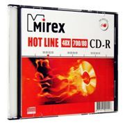 Диск CD-R MIREX 700Mb Hot Line 48x, Slim Case