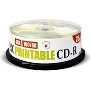 Диск CD-R MIREX Printable 700 Mb 48x, Cake Box, 25шт