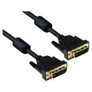 Кабель DVI-D Dual link (24+1) 3 м, позол. контакты, 2 фильтра, черный, 5bites (APC-096-030)