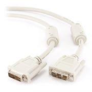 Кабель DVI-D Single link, 1.8 м, феррит. фильтр, серый, Cablexpert (CC-DVI-6C)