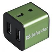 HUB 4-port DEFENDER Quadro Iron USB 2.0 (83506)