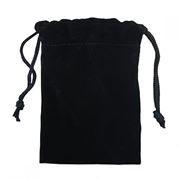Подарочный мешочек для USB флеш накопителей, 8x10 см, черный, бархат