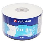 Диск CD-R VERBATIM 700Mb DataLife Printable 52x, Shrink, 50шт (43794)