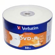 Диск DVD-R Verbatim 4,7 Gb 16x DataLife Inkjet Printable, Shrink, 50 шт (43793)