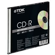 Диск CD-R TDK 700Mb 52x, Slim Case (t18765)