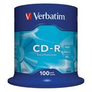Диск CD-R VERBATIM 700Mb Extra Protection 52x, Cake Box, 100шт (43411)