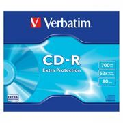 Диск CD-R VERBATIM 700Mb Extra Protection 52x, Slim Case (43347/43415)