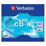 Диск CD-R VERBATIM 700Mb Crystal Azo 52x, Slim Case (43342)