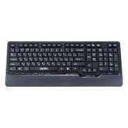 Клавиатура беспроводная Perfeo PF-5214-WL Autograph Ultra Slim Multimedia, черная, USB