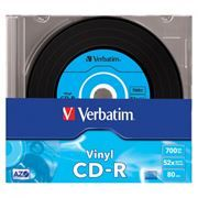 Диск CD-R VERBATIM 700Mb Crystal Azo Vinyl 48x, Slim Case (43426)