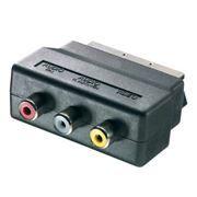 Адаптер SCART-> 3 x RCA (тюльпан-гнезда), Rexant (17-1062)