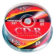 Диск CD-R VS 700Mb 52x, Cake Box, 25шт (VSCDRCB2501)