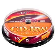Диск CD-RW VS 700Mb 8x-12x, Cake Box, 10шт (VSCDRWCB1001)