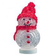 Сувенир CBR NY-070 Снеговик, многоцветная подсветка, питание от USB