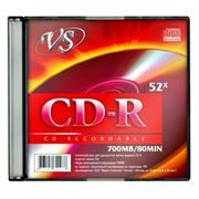 Диск CD-R VS 700Mb 52x, Slim Case (VSCDRSL501)