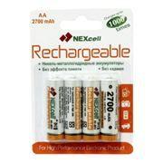 Аккумулятор AA NEXCELL HR6-4BL 2700мА/ч Ni-Mh, 4шт, блистер