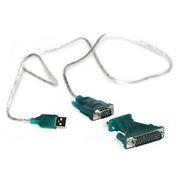 Адаптер USB Am - DB9M/25M RS232, 1.8 м, KS-is Nikko KS-040