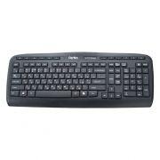 Клавиатура беспроводная Perfeo PF-5213-WL Postscriptum Ultra Slim Multimedia, черная, USB