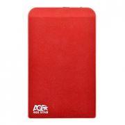 Внешний контейнер для 2.5 HDD S-ATA AgeStar SUB2O1, алюминиевый, красный, USB 2.0
