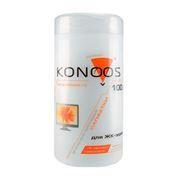 Салфетки влажные KONOOS для очистки ЖК экрана, в тубе 100шт (KBF-100)