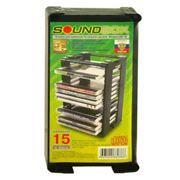 Подставка для дисков 15 CD Sound Box CD-15, черная