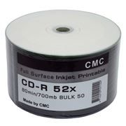 Диск CD-R CMC Full Ink Printable 700 Mb, Bulk, 50 шт