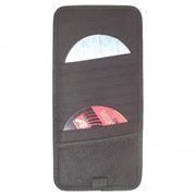 Держатель-портмоне на козырек авто на 12 CD VS-12, черное