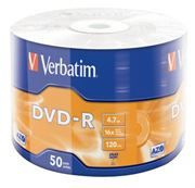 Диск DVD-R Verbatim  4,7 Gb 16x Azo, Shrink, 50шт (43788)