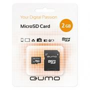 Карта памяти MicroSD 2 Gb Qumo + адаптер SD (QM2GMICSD)