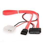 Кабель интерфейсный mini SATA DATA + питание Molex, 35/30 см, Gembird (CC-SATA-C2)