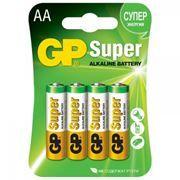 Батарейка AA GP Super Alkaline LR6, 4 шт, блистер (15A-CR4)