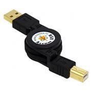 Кабель USB 2.0 Am=>Bm - 0.75 м, на рулетке, Konoos (KCR-USB2-AMBM-0.75)