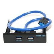 Панель фронтальная 3.5 с 2 портами USB 3.0, металл, 5bites (FP184A)