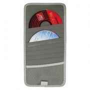 Держатель-портмоне на козырек авто на 12 CD VS-12, серое
