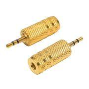 Адаптер 2.5 stereo plug -> 3.5 stereo jack, метал. корпус, позолоченный, Premier (2-006G)