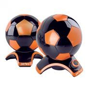Колонки Perfeo Football, Black/Orange, USB (PF-2014-B/OR)