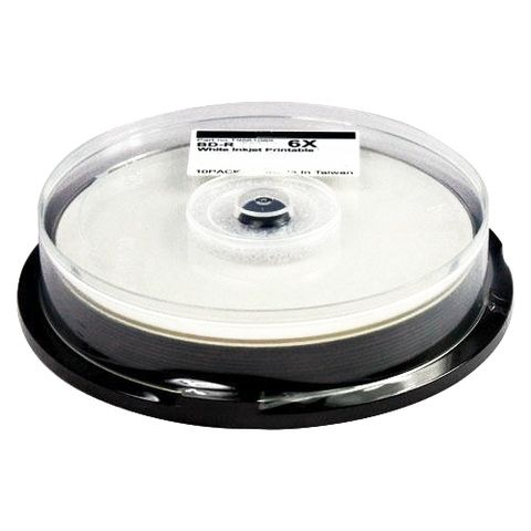 Диск BD-R CMC 25 Gb 6x Full Ink Printable, Cake Box, 10...