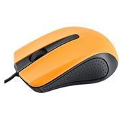Мышь Perfeo PF-353-OP-OR, чёрно-оранжевая, USB