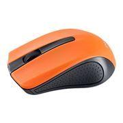 Мышь беспроводная Perfeo PF-353-WOP-OR, чёрно-оранжевая, USB