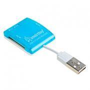 Карт-ридер внешний USB SmartBuy SBR-713-B Blue