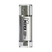 8Gb Mirex Smart Silver, USB и micro USB (13600-DСFSSM08)