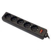 Сетевой фильтр DEFENDER ES, 5 м, черный (99486)
