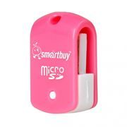 Карт-ридер внешний USB SmartBuy SBR-706-P Pink, microSD/microSDHC