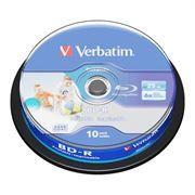 Диск BD-R Verbatim 25 Gb 6x Wide InkJet Printable, Cake Box, 10 шт (43804)