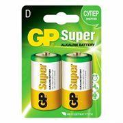 Батарейка D GP Super Alkaline LR20, щелочная, 2 шт, блистер (13A-CR2)