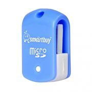 Карт-ридер внешний USB SmartBuy SBR-706-B Blue, microSD/microSDHC